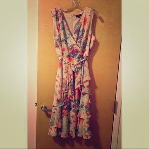 Tahari chiffon dress